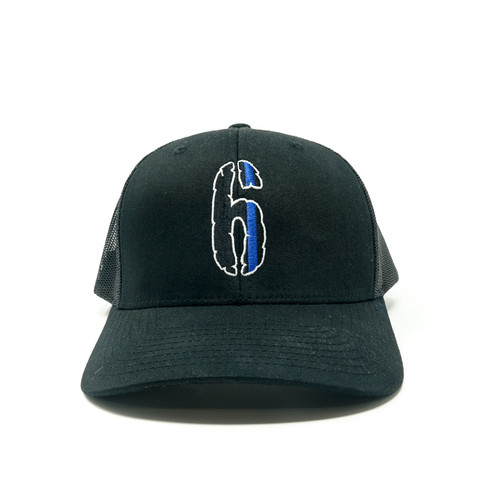 6 Hat (Snap back, black on black)
