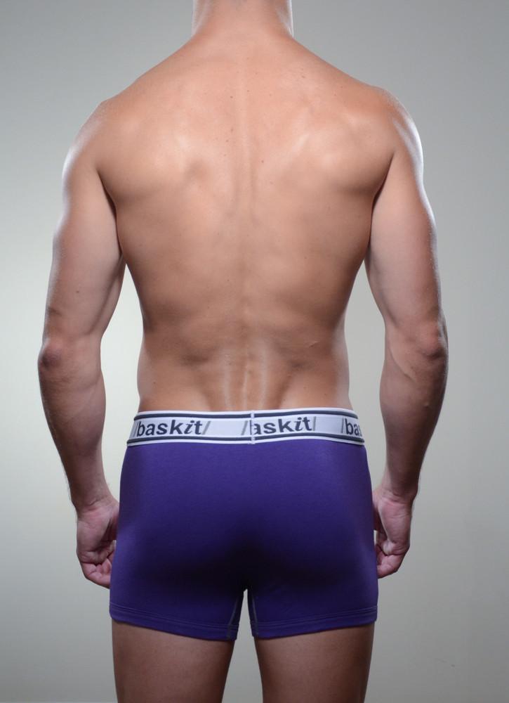 Baskit Light Trunk in royal purple color back.