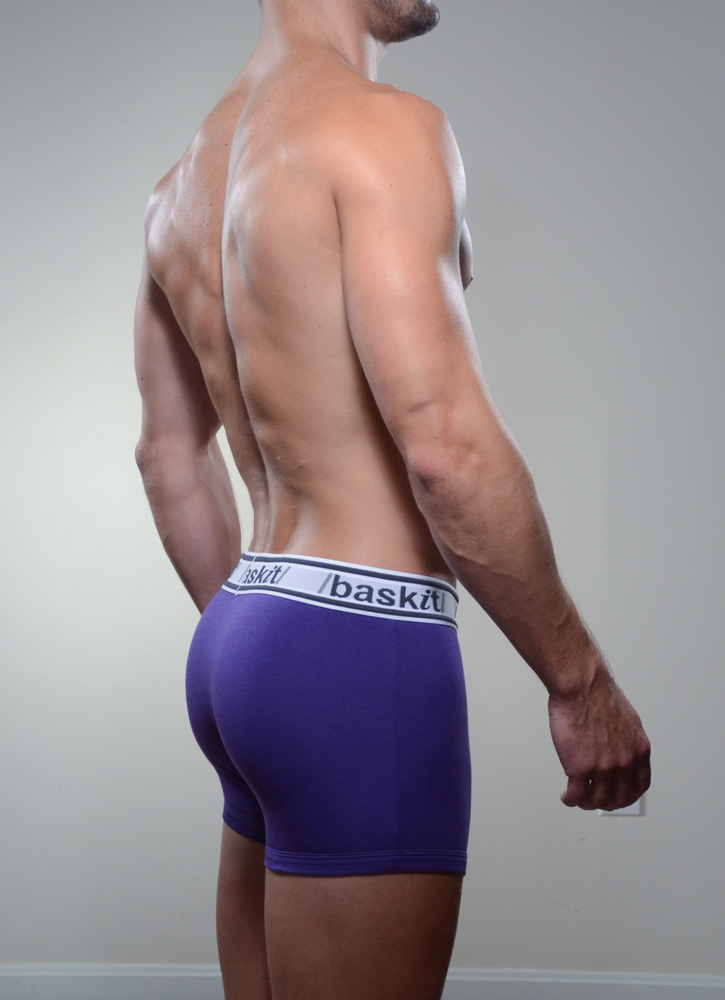 Baskit Light Trunk in royal purple color side.