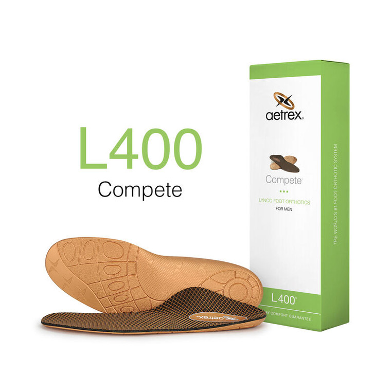 Aetrex Men's Compete Orthotics - Insoles for Active Lifestyles