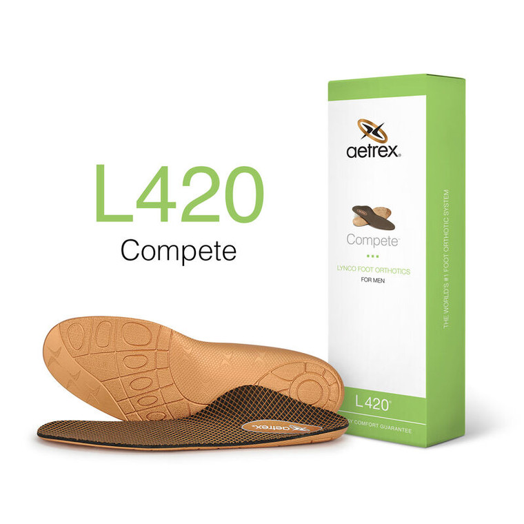 Aetrex Men's Compete Posted Orthotics