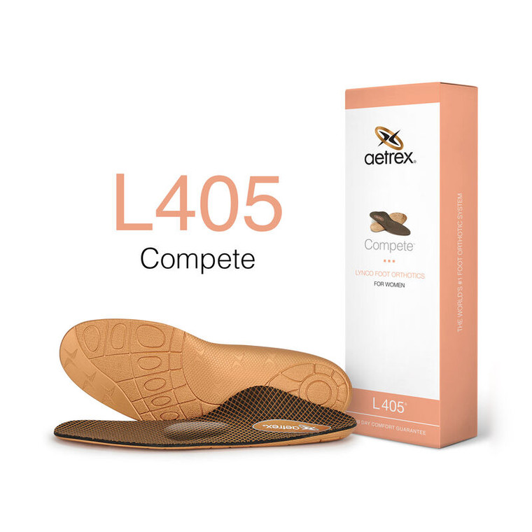 Aetrex Women Compete Orthotics with Metatarsal Support