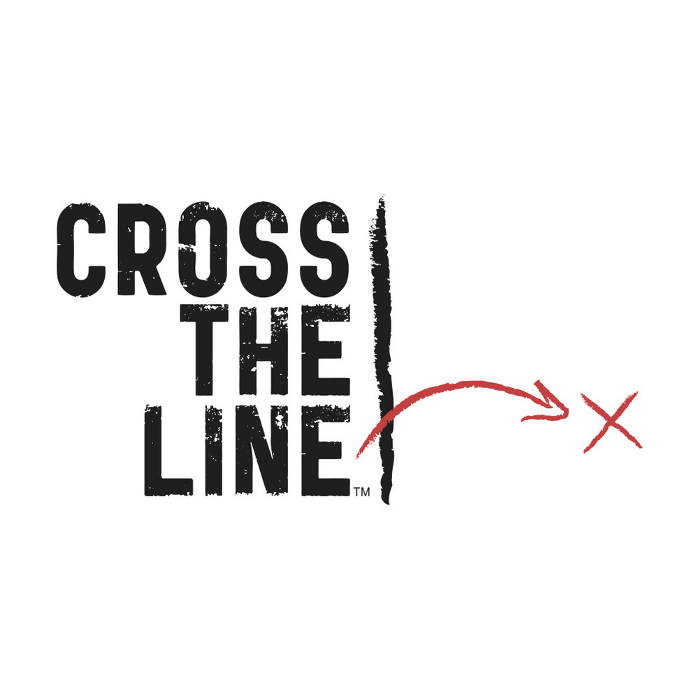 Cross The Line T-Shirt (white) - Original Version