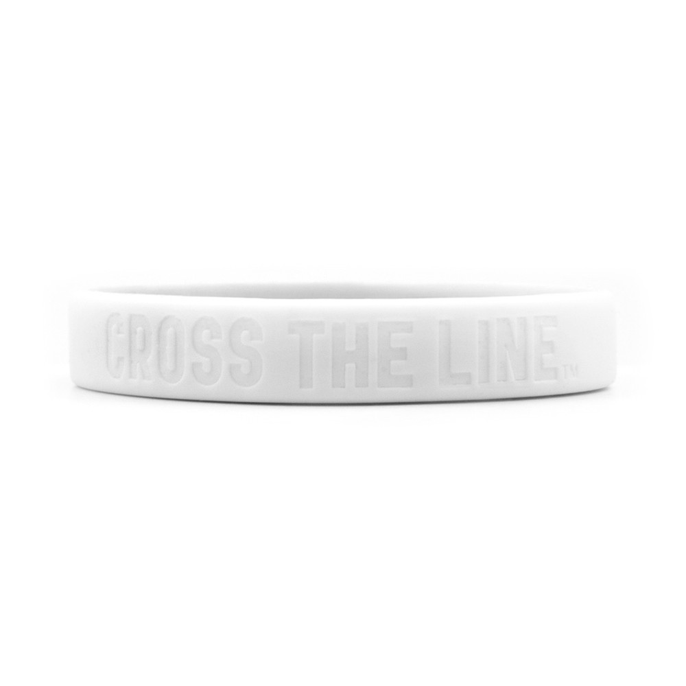 Cross The Line Wristbands (white)