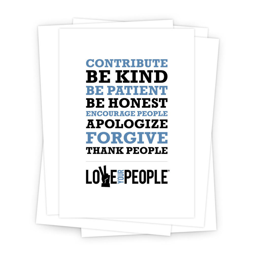 Love Your People 5 in. x 7 in. Prints - white