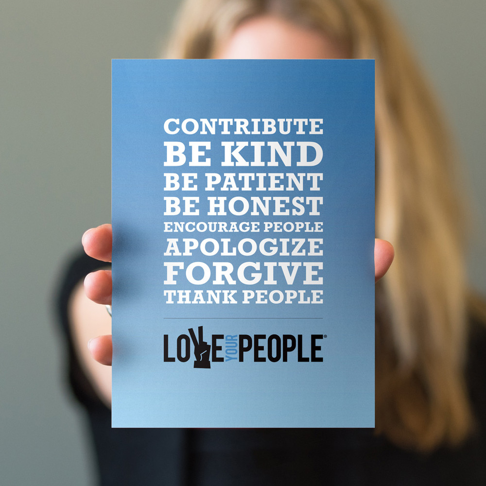 Love Your People 5 in. x 7 in. Prints - blue gradient