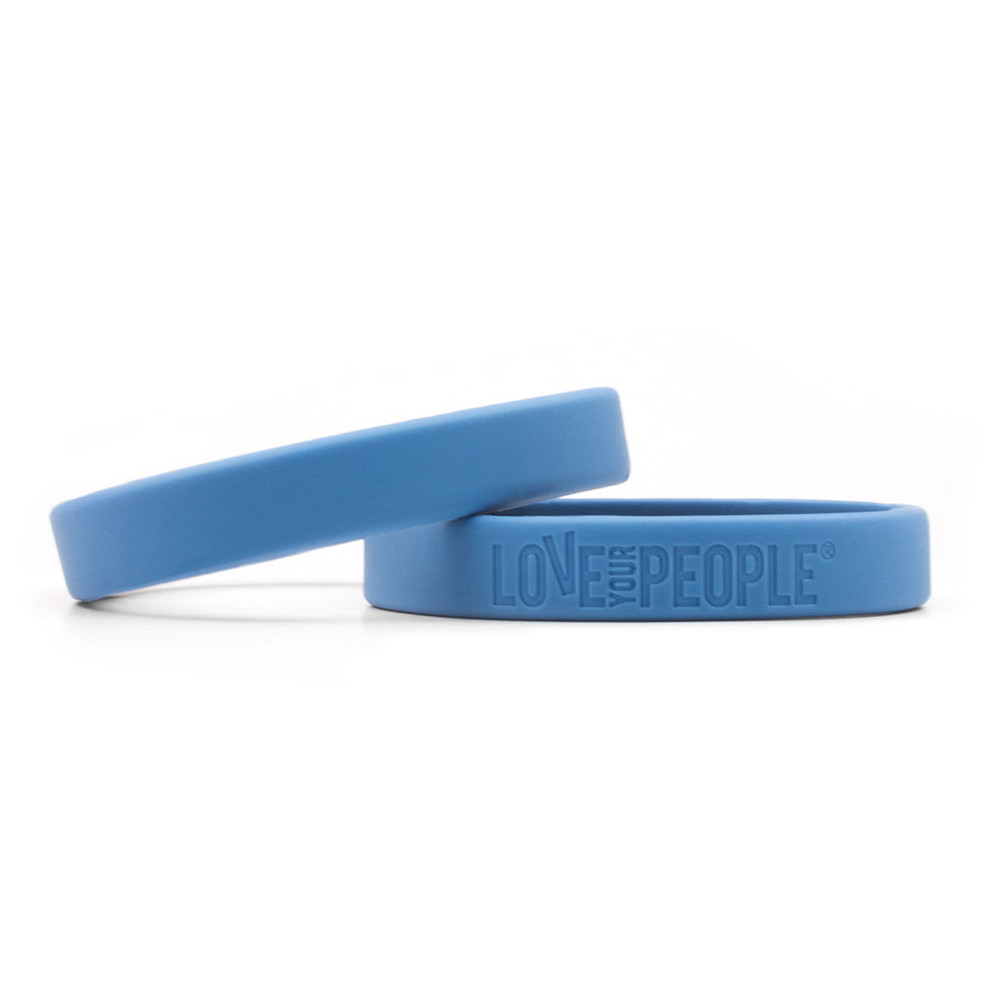 Love Your People Wristbands (blue)