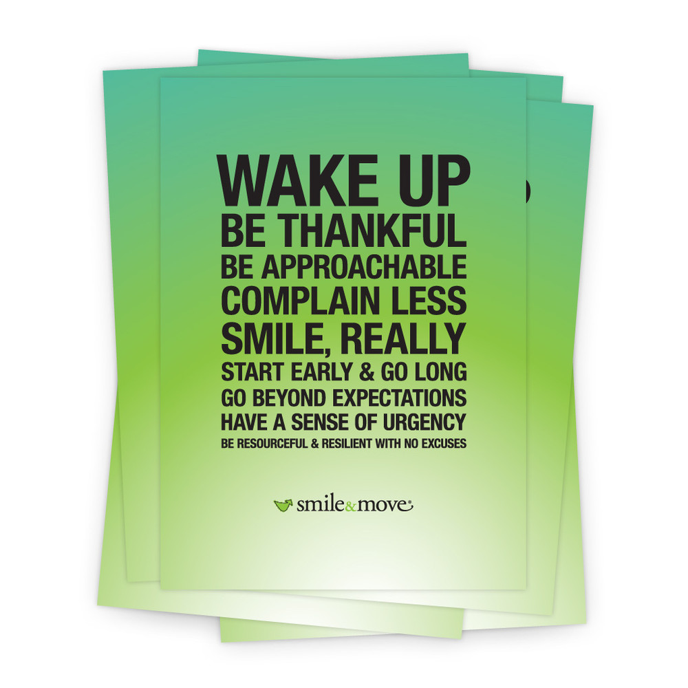 Smile & Move 5 in. x 7 in. Prints - green
