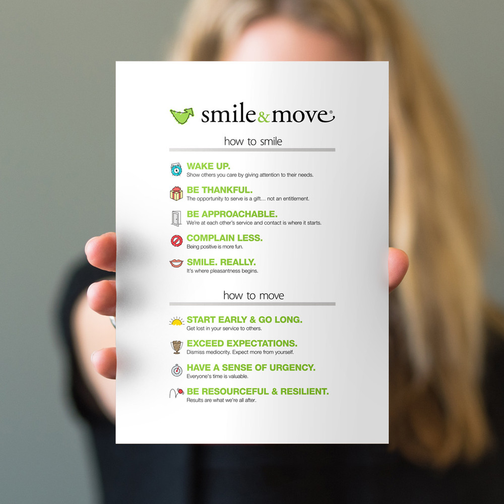 Smile & Move 5 in. x 7 in. Prints - white