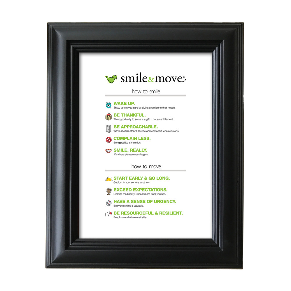 Smile & Move 5 in. x 7 in. Framed Print (white)