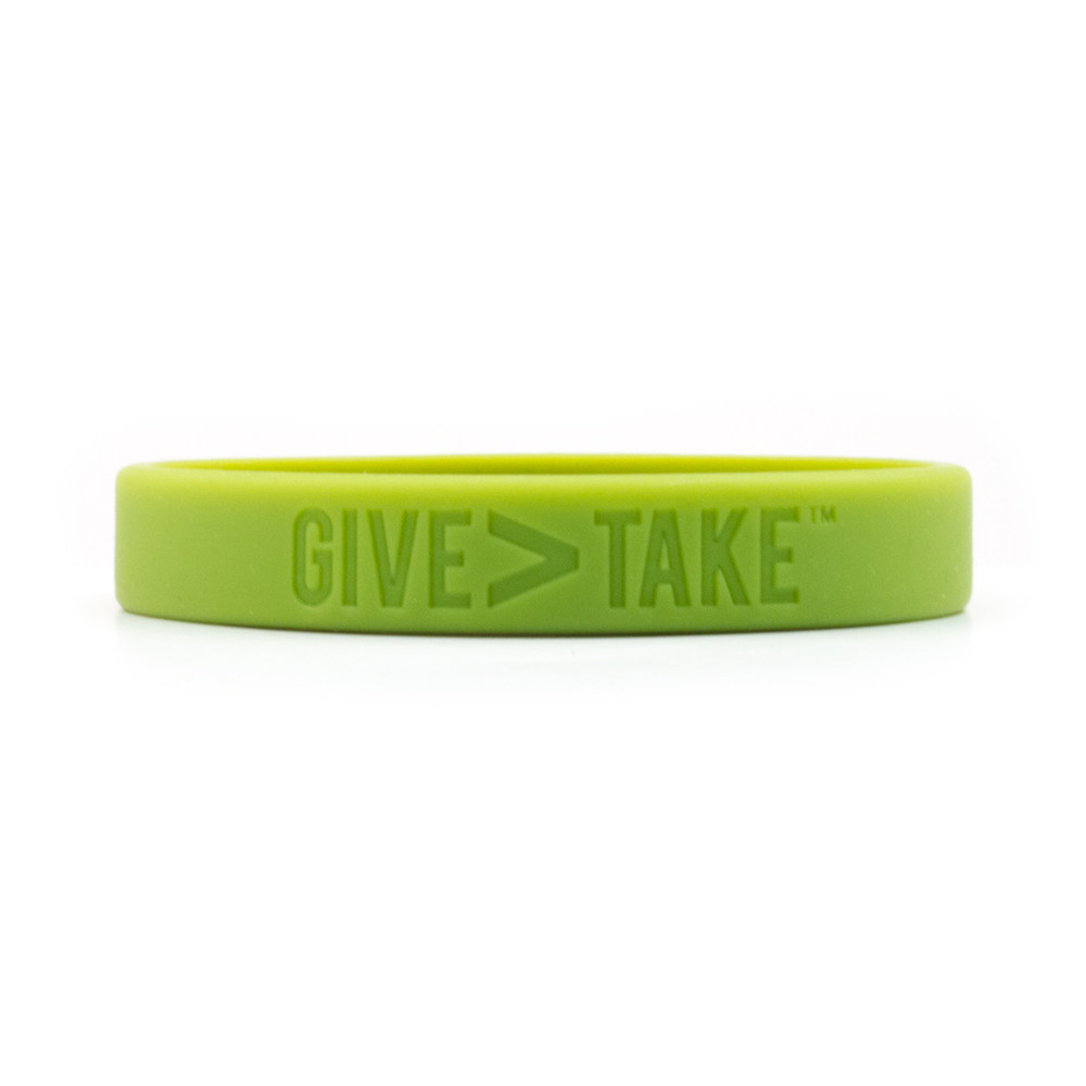 GIVE > TAKE Wristbands (green)