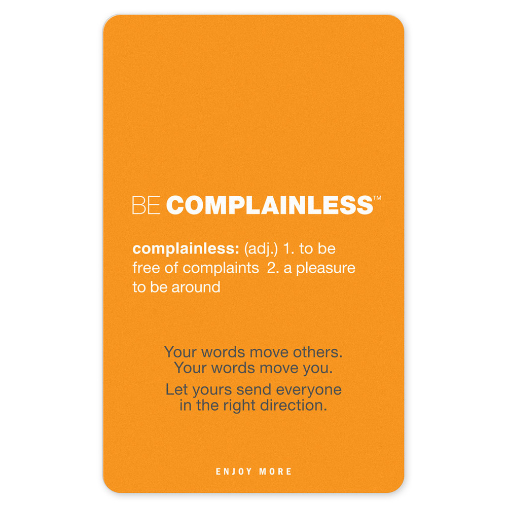 ComplainLess Pocket Cards (10 pack)