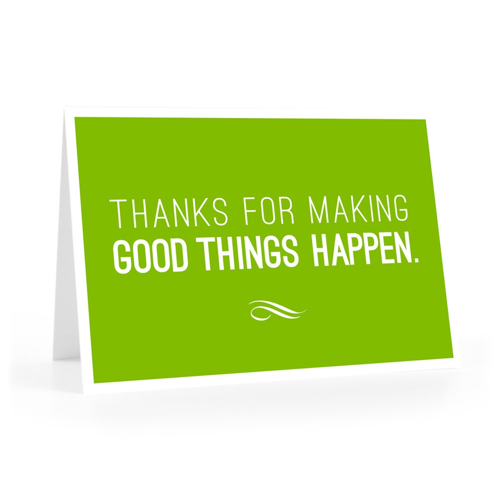 Thanks for Making Good Things Notecards (green)