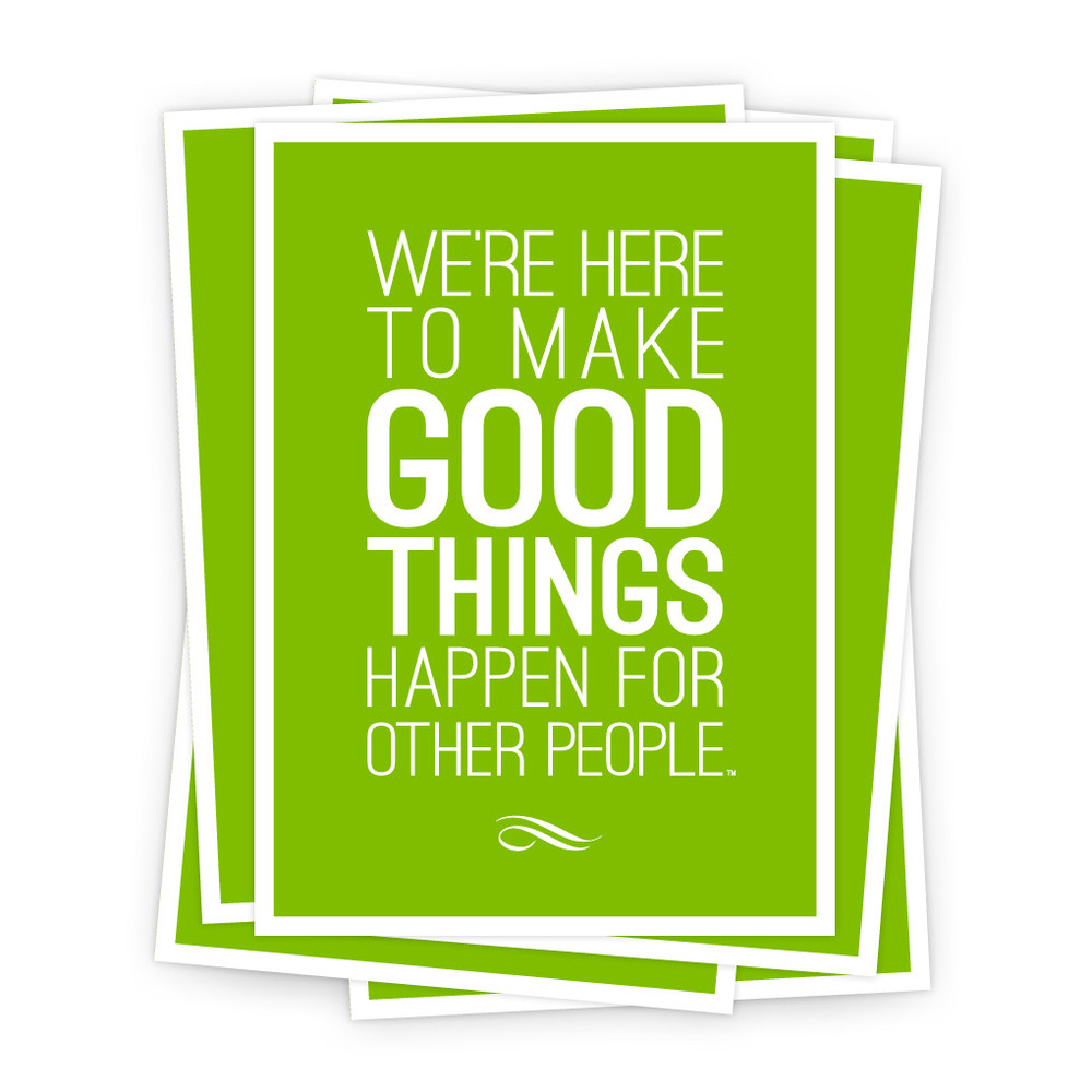 Make Good Things Happen 5 in. x 7 in. Prints - green