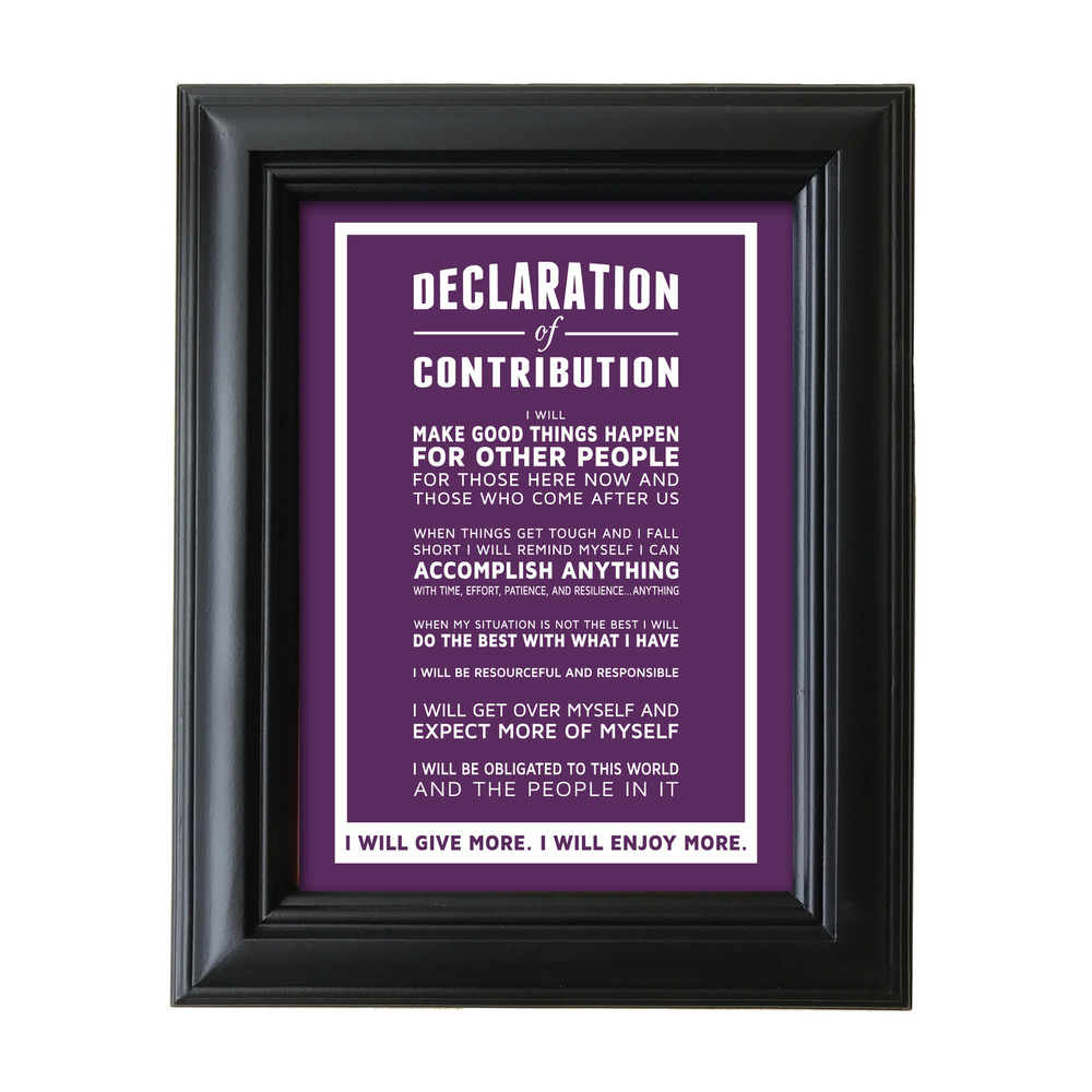 Declaration of Contribution 5 in. x 7 in. Framed Print (purple)