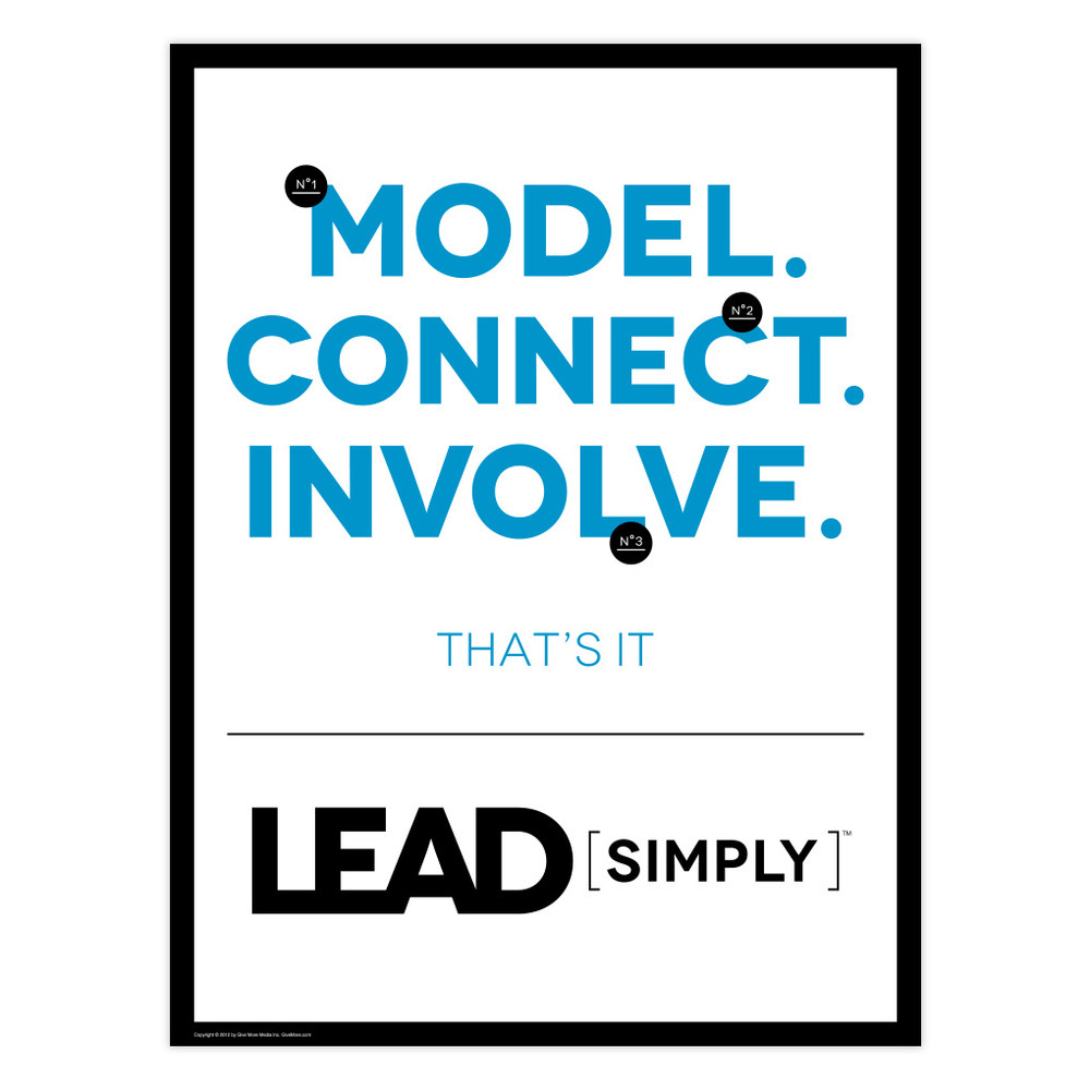 Lead Simply 18 in. x 24 in. Poster (white)