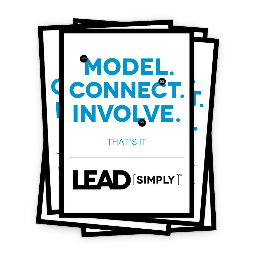 Lead Simply 5 in. x 7 in. Prints - white