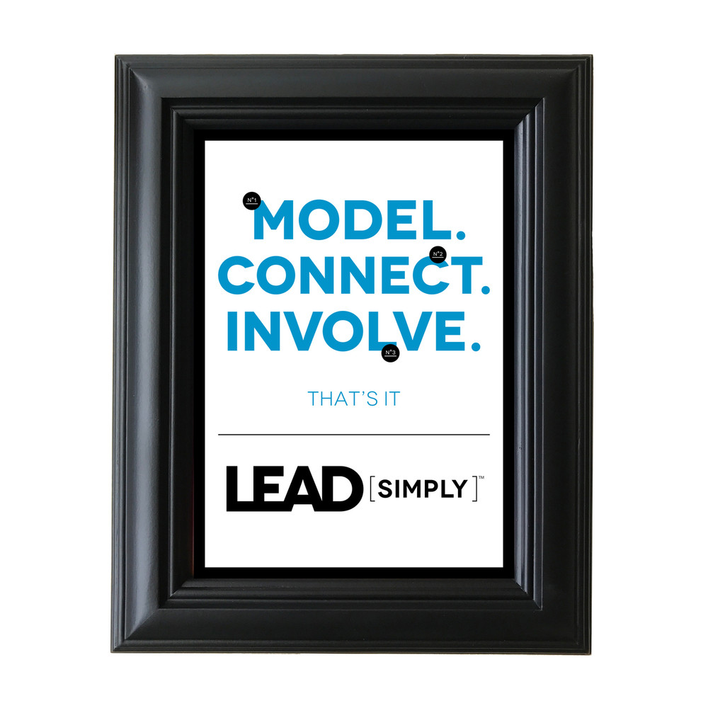 Lead Simply 5 in. x 7 in. Framed Print (white)