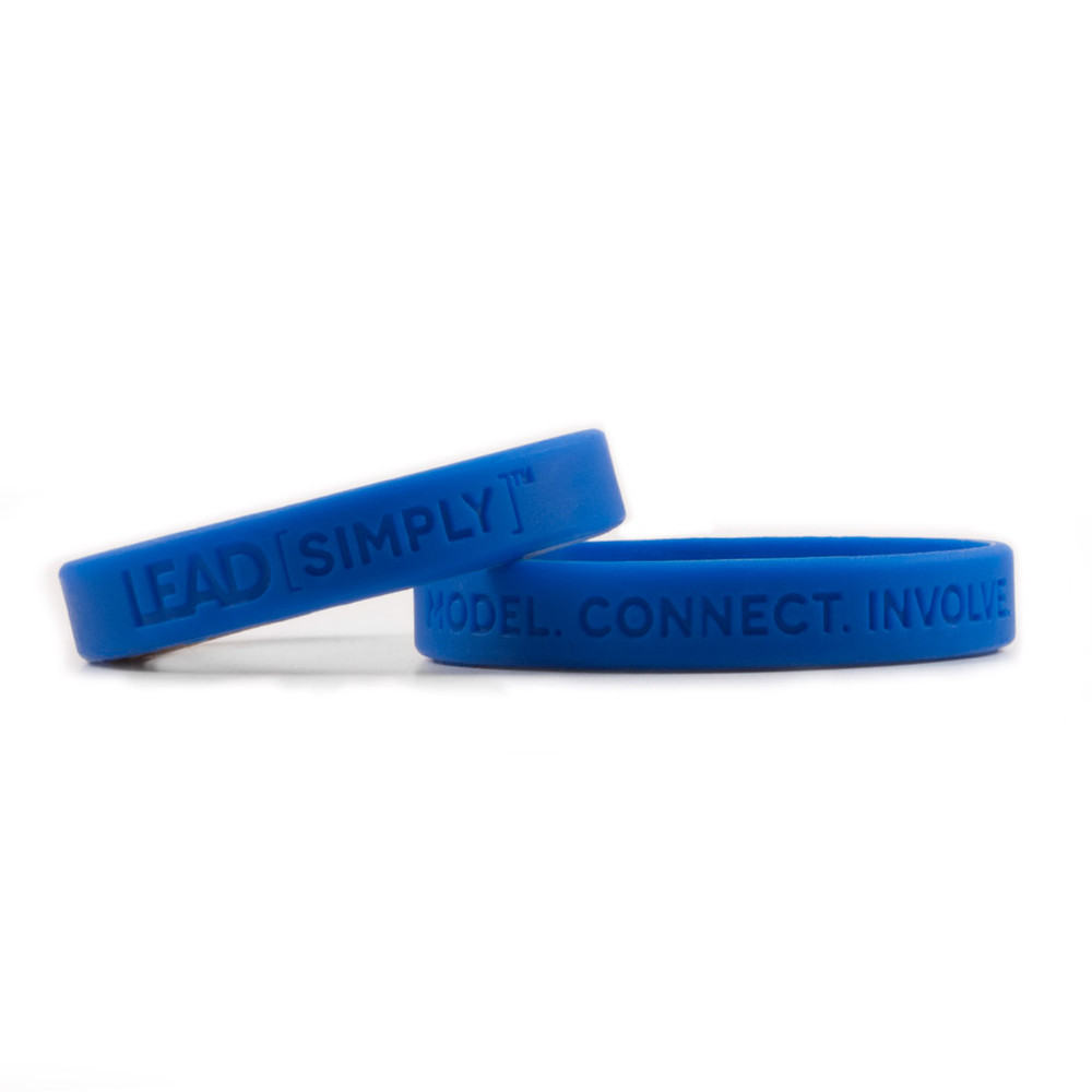 Lead [simply] Wristbands (blue)