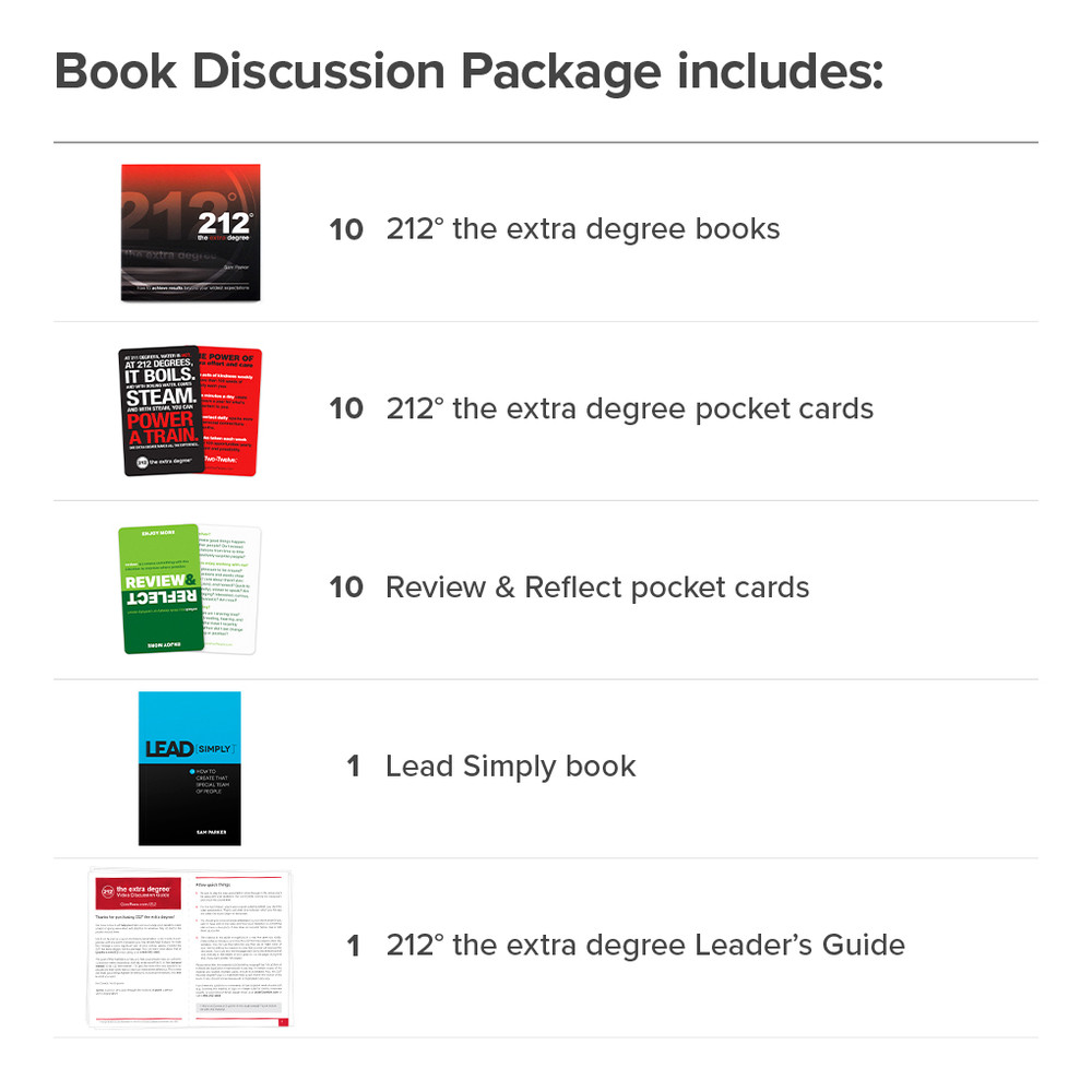 212° Book Discussion Package