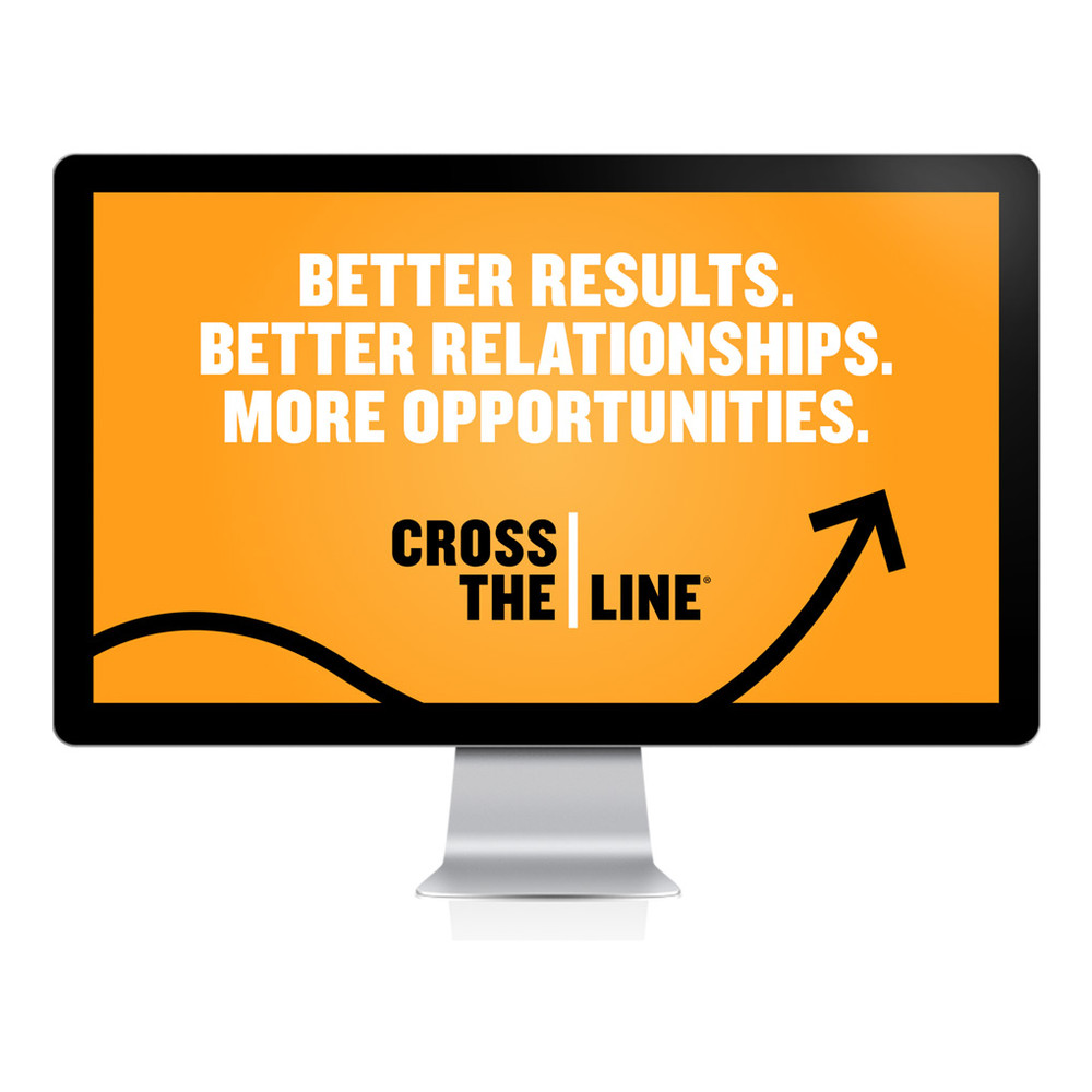 Cross The Line PowerPoint® Presentation