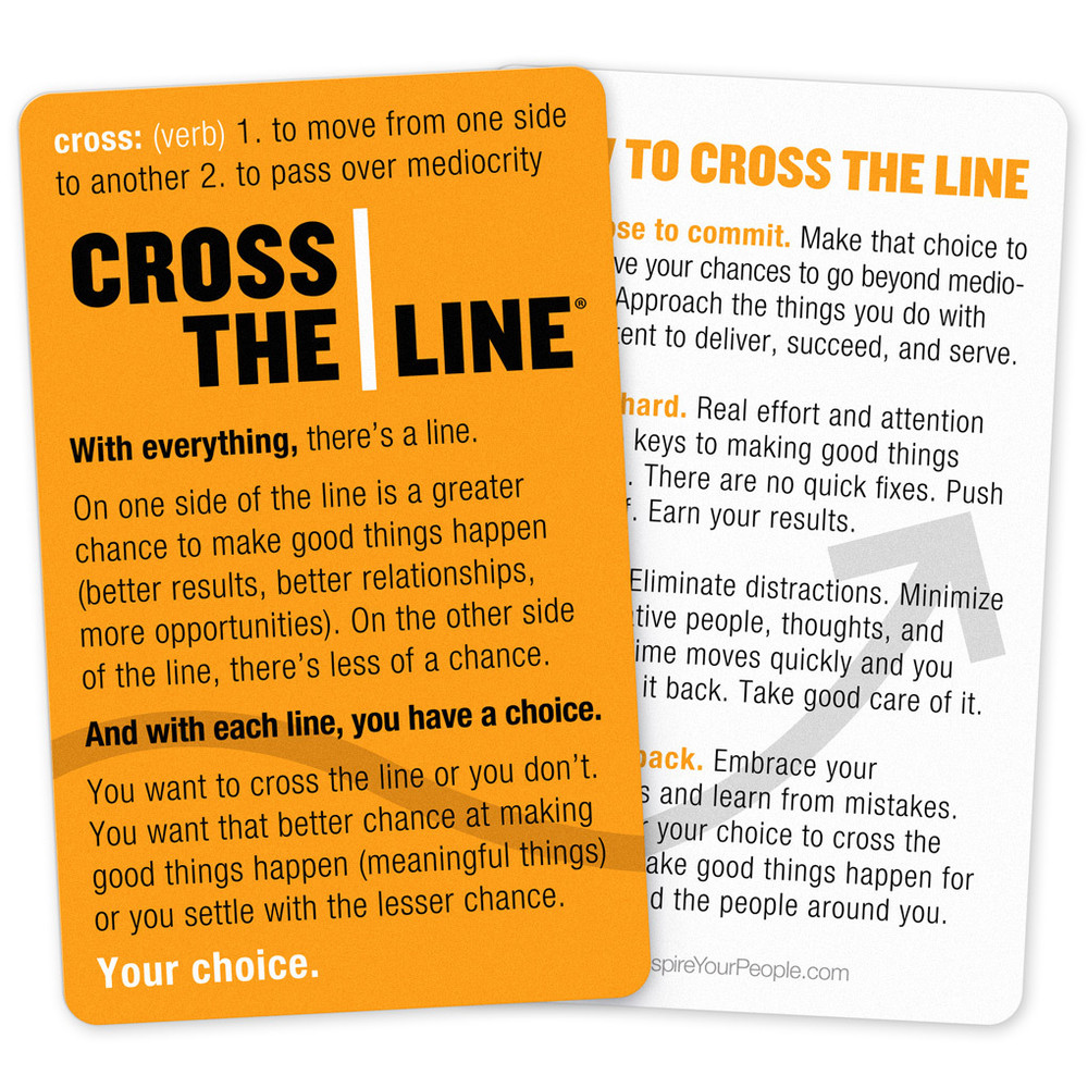Cross The Line Faculty & Staff Package