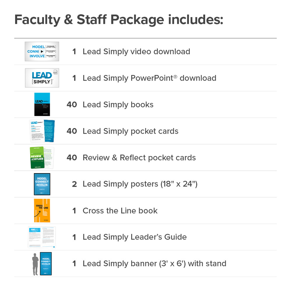Lead Simply Faculty & Staff Package