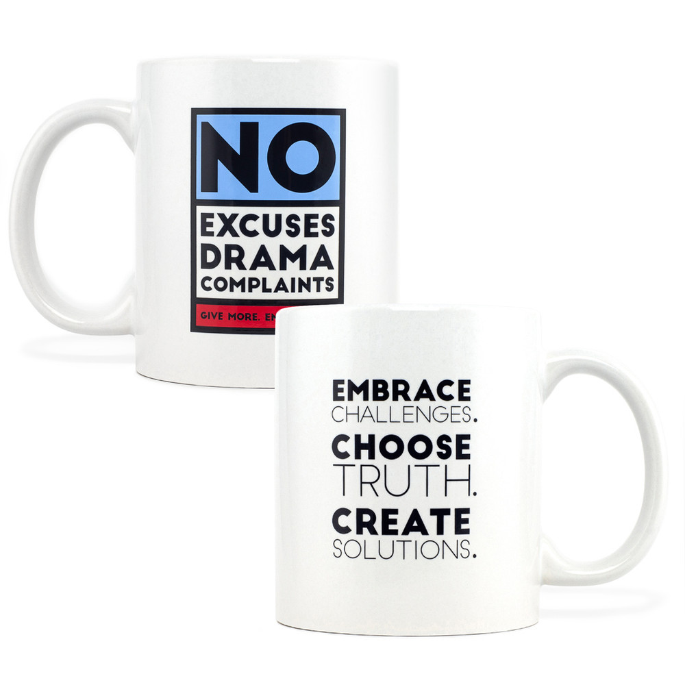 No Excuses, Drama, Complaints Mug (11oz Red)