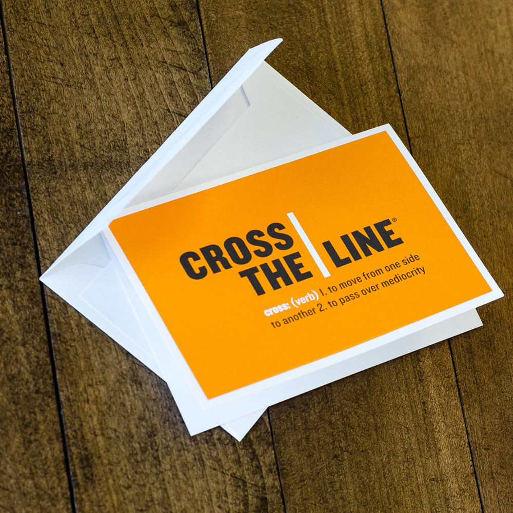 Cross The Line Notecards (logo)