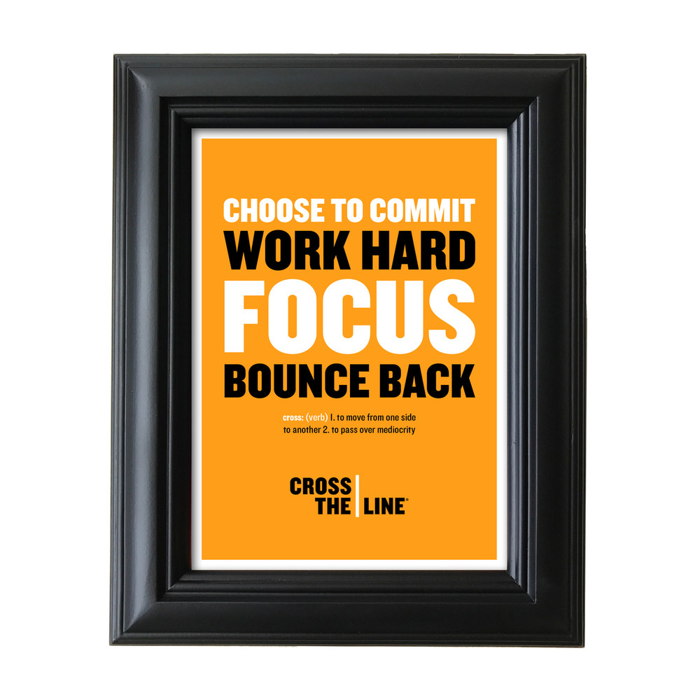 Cross The Line 5 in. x 7 in. Framed Print (orange)