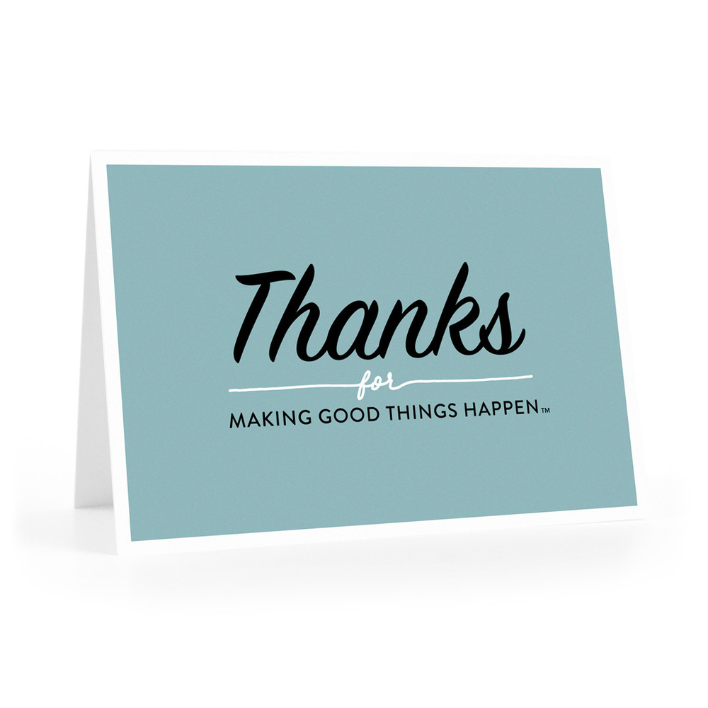 Thanks for Making Good Things Notecards (teal)