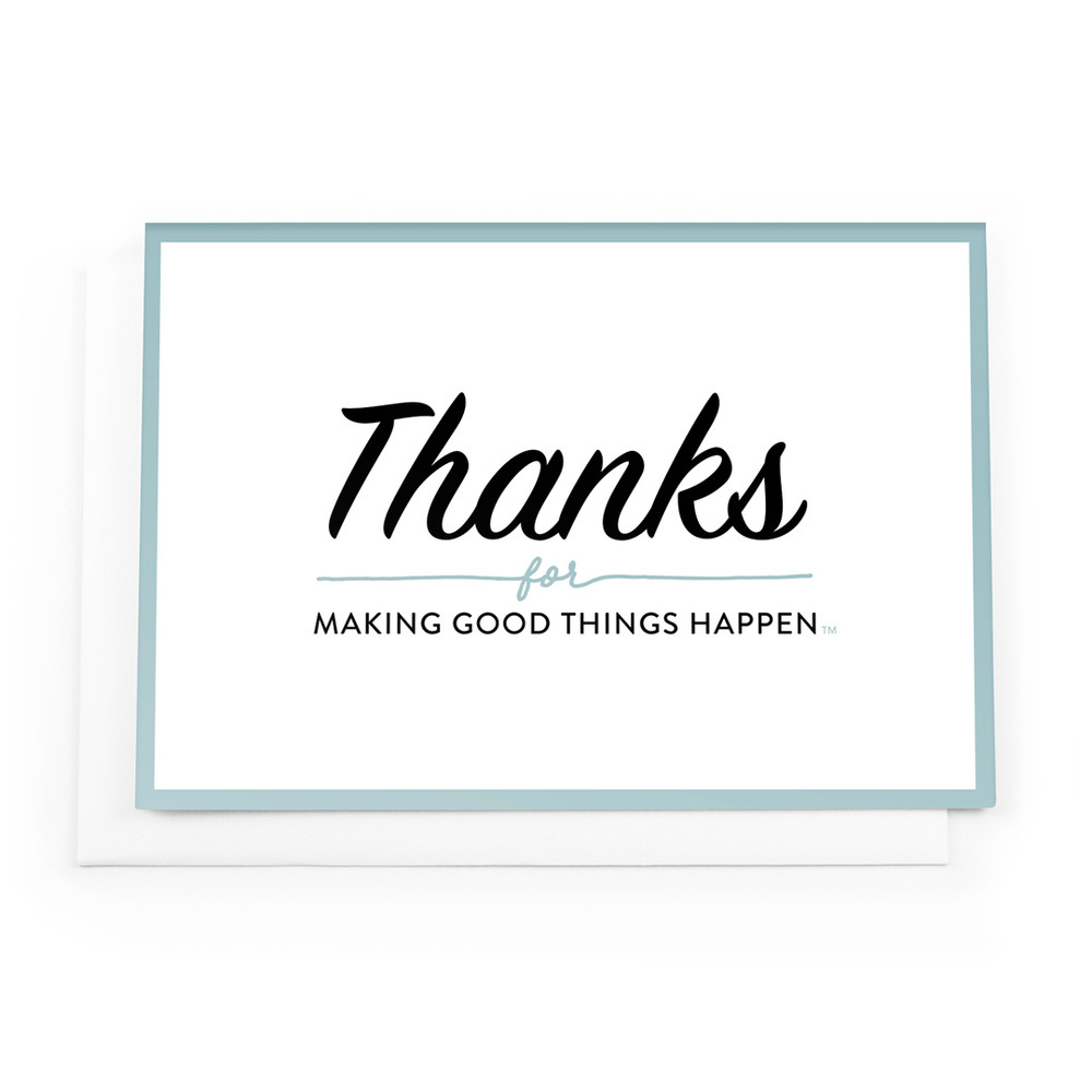 Thanks for Making Good Things Notecards (teal border)