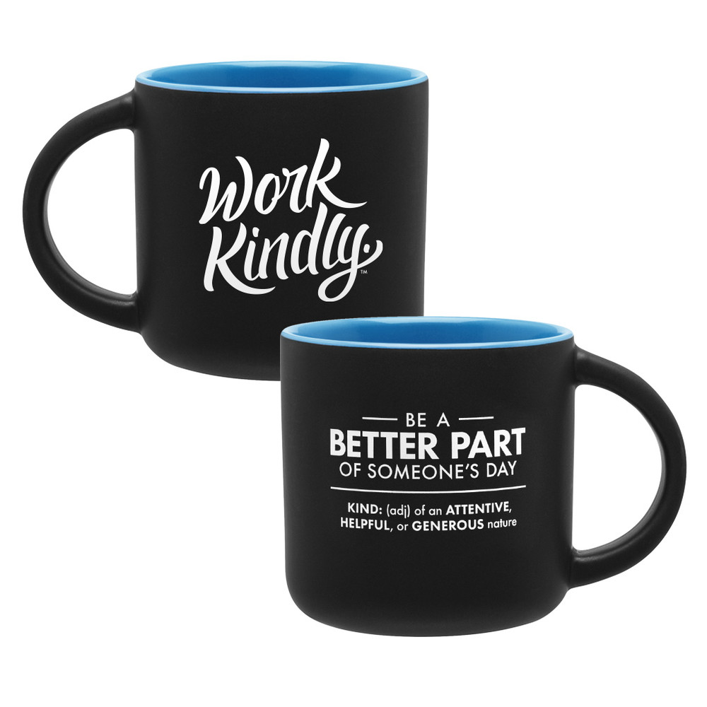 Work Kindly Mug (14oz  Blue)