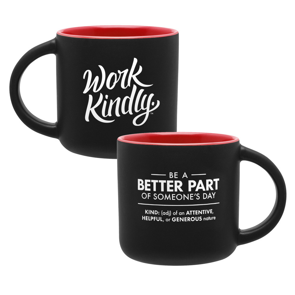 Work Kindly Mug (14oz Red)