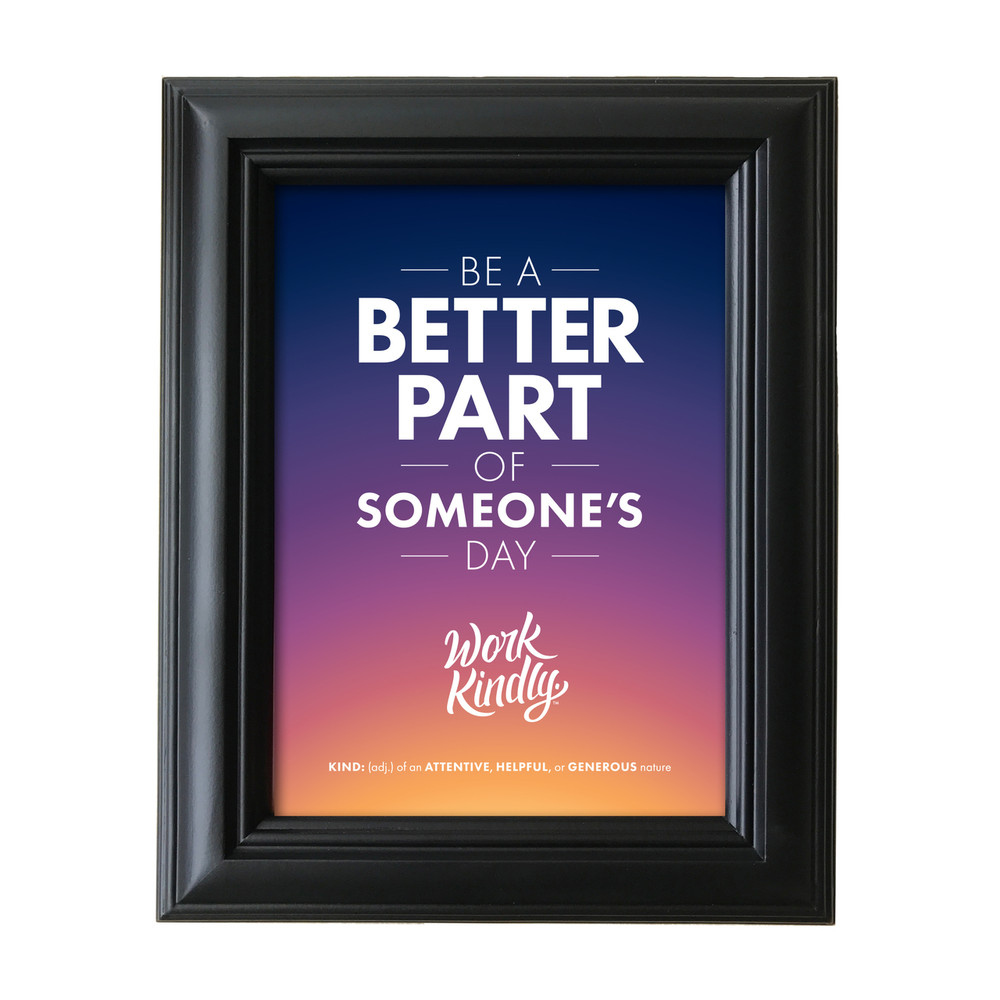 Work Kindly 5 in. x 7 in. Framed Print - sunburst