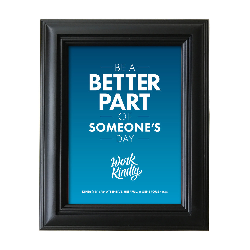 Work Kindly 5 in. x 7 in. Framed Print - blue
