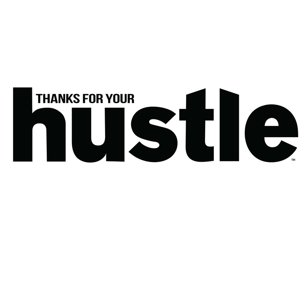 Thanks for Your Hustle Stainless Steel Bottle (17oz  Green/Blue Gloss)
