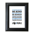 Love Your People 5 in. x 7 in. Framed Print (white)