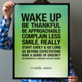 Smile & Move 18 in. x 24 in. Poster (green)