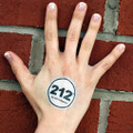 212° Temporary Tattoo - white