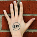 212° Temporary Tattoo - clear