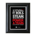 212° Block Point 5 in. x 7 in. Framed Print (black)