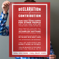 Declaration of Contribution 18 in. x 24 in. Poster (red)