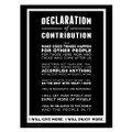 Declaration of Contribution 18 in. x 24 in. Poster (black)