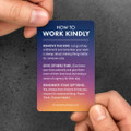 Work Kindly Pocket Cards (10 pack) - sunburst