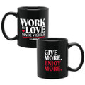 Work Is Love Made Visible (11oz Black)