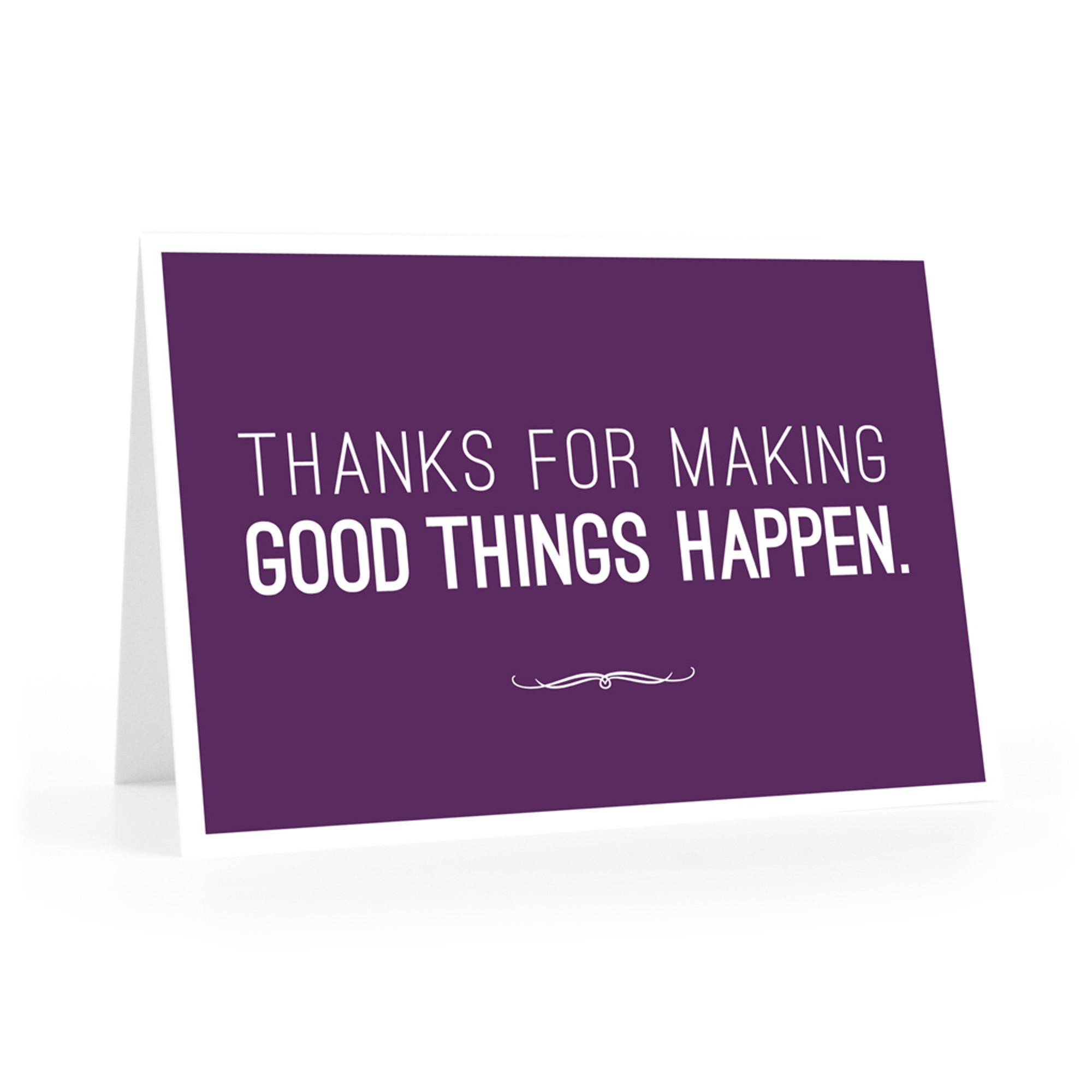 Thanks For Making Good Things Notecards Purple Inspireyourpeople Com