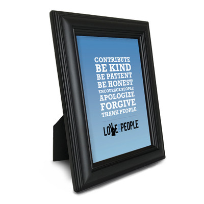 Love Your People 5 in. x 7 in. Framed Print (blue gradient)