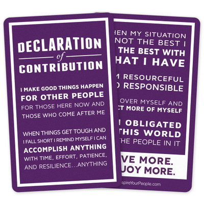 Declaration of Contribution Pocket Cards (10 pack)