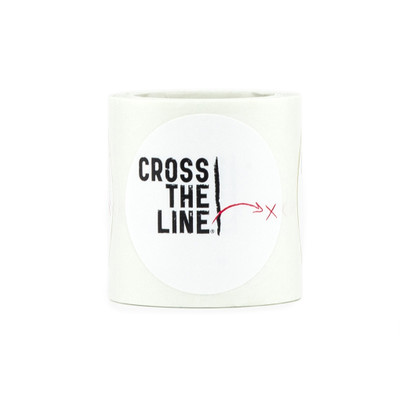 Cross The Line Roll of Stickers - Original Version